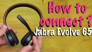 How to connect Jabra Evolve 65 to your Mac or PC computer