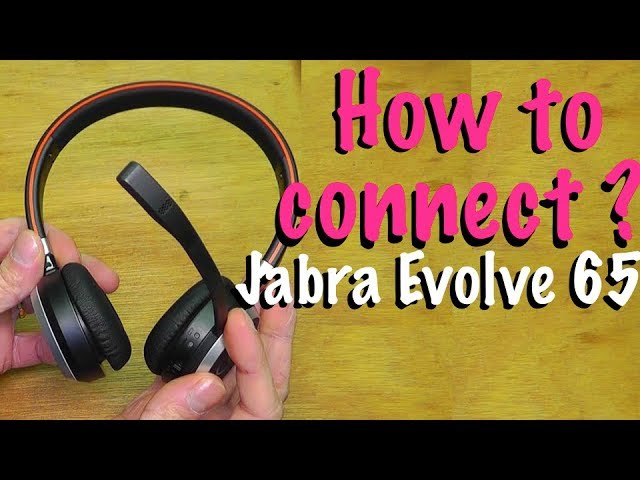 How To Connect Jabra Evolve 65 To Your Mac Or Pc Computer Youtube