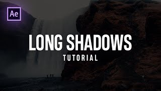 After Effects Tutorial : LONG SHADOWS (Quick Tip) by Dope Motions™