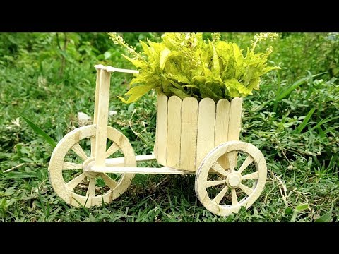 DIY bicycle using ice cream stick । cute bicycle from waste popsicle stick ।  mini bicycle.