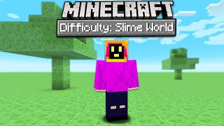 Can You Beat Minecraft In A Slime Only World?