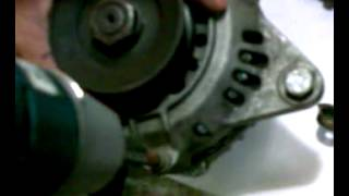Scrap Alternator converted to PMA (Permanent Magnet Alternator)