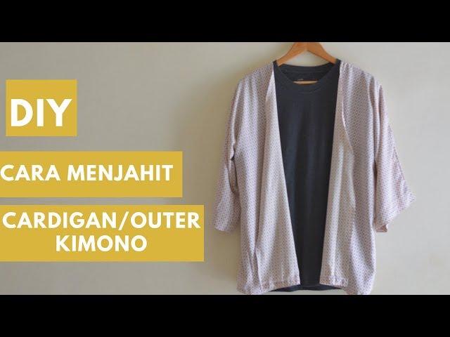 DIY cara mudah menjahit cardigan outer kimono