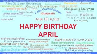 April   Languages Idiomas - Happy Birthday