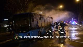 FKI - BKV busz gyulladt ki a XII.kerületben