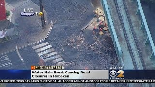 Crews Repairing Hoboken Water Main Break