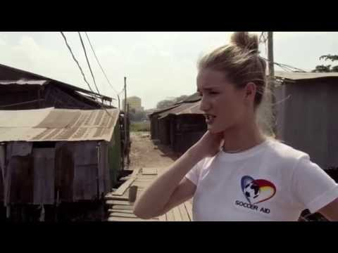 Rosie Huntington-Whiteley Supports Soccer Aid For Children In Cambodia