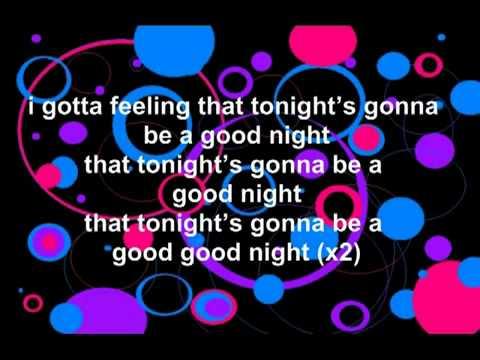 Black Eyed Peas: I Got a Feeling With Lyrics - YouTube