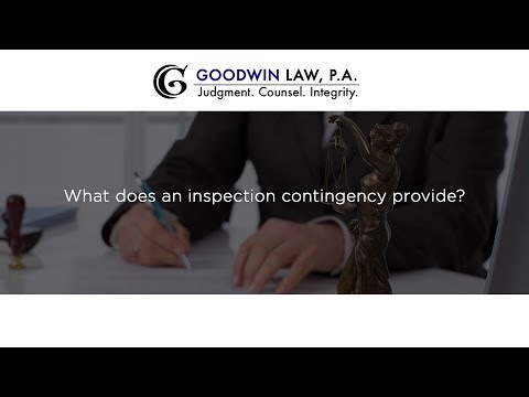 What does an inspection contingency provide?