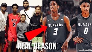 The REAL Reason Why Bronny James And Zaire Wade Decided To Attend Sierra Canyon School Together...