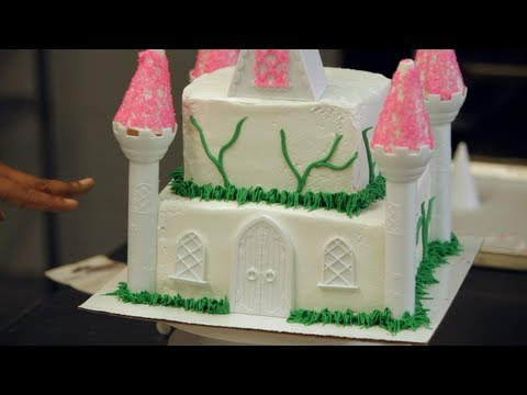 Adding Vines to a Princess Castle Cake Birthday Cakes YouTube