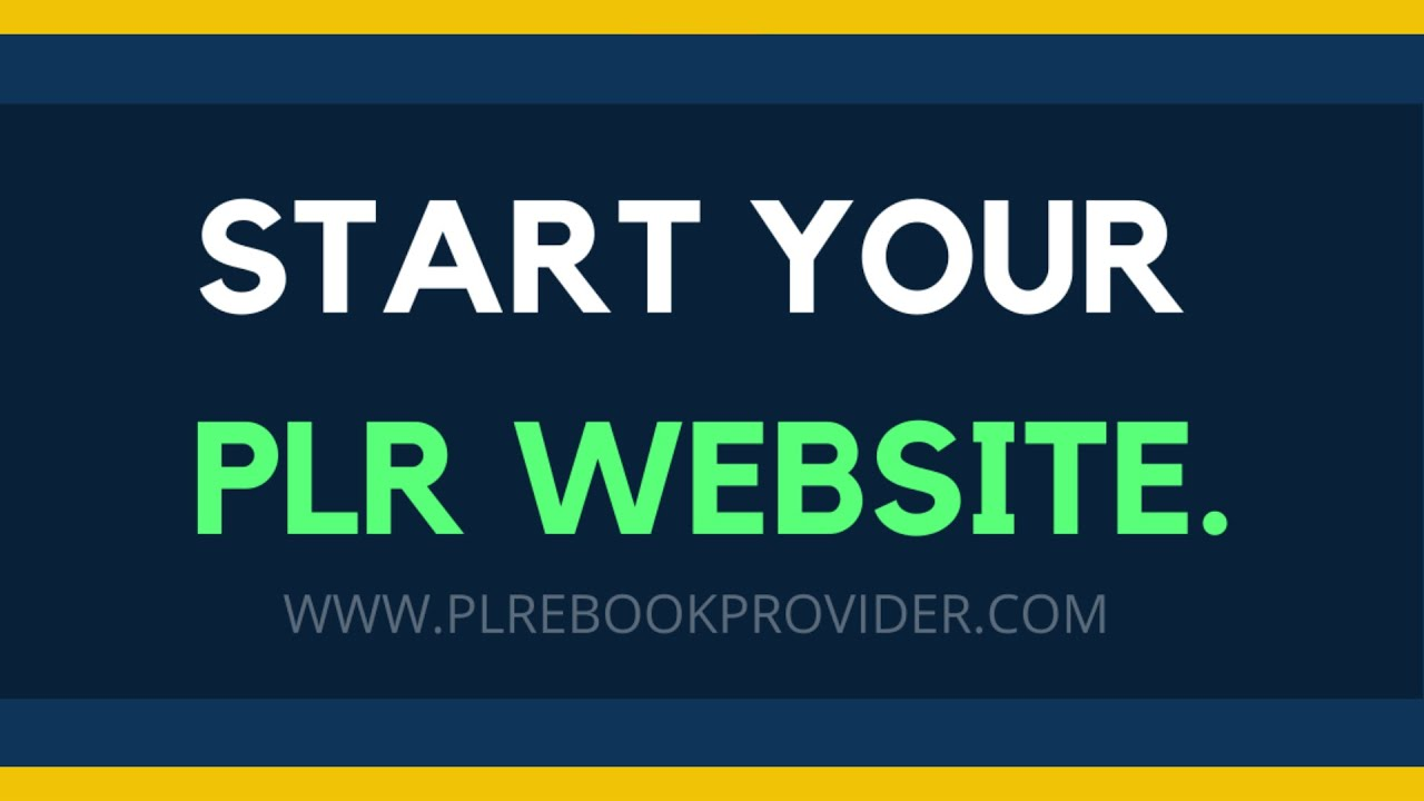 Order a PLR eBook Website and Start Selling Today!