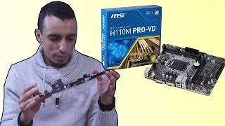 Unboxing and overview msi H110m Pro-VD ! تحليل و رأي