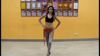Урок восточного танца. Движение