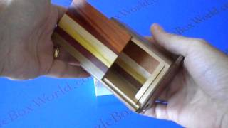 A Closer Look At The 3 Sun 12 Step Natural Wood Japanese Puzzle Box !