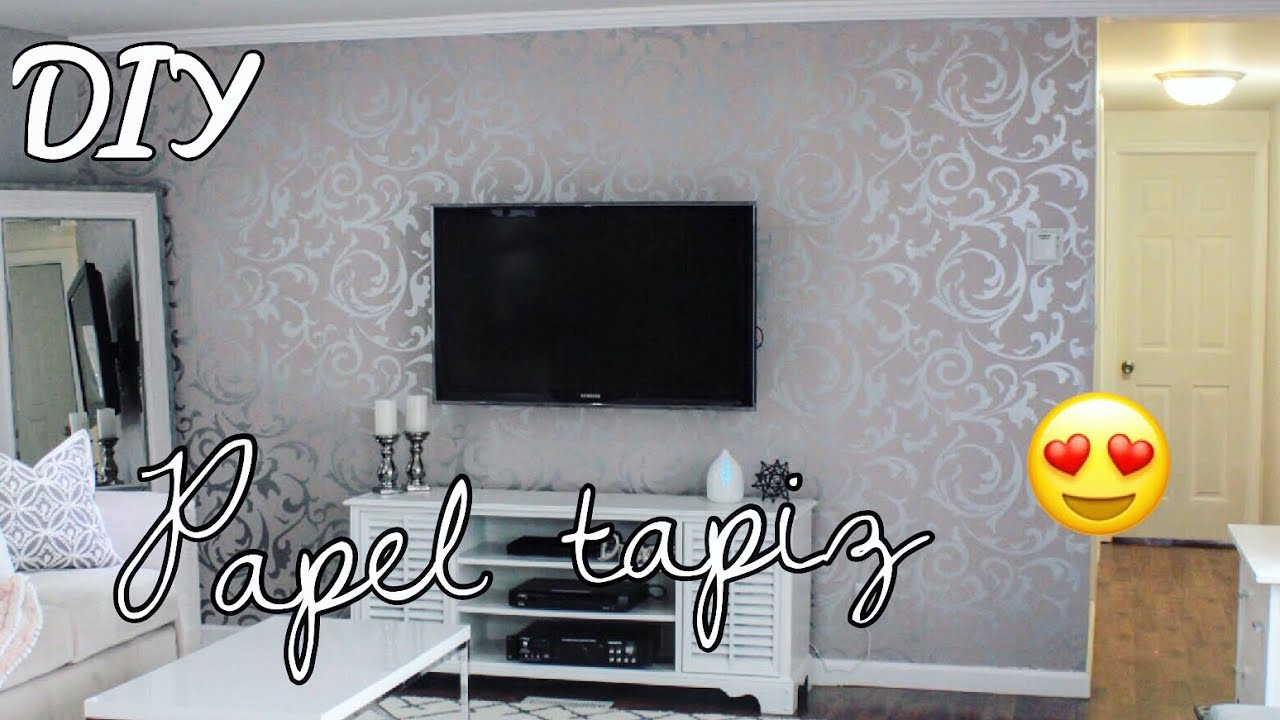Como poner papel tapiz decora tu pared antes y despues - Papel decorativo para paredes ...