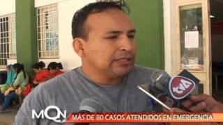 MÁS DE 80 CASOS ATENDIDOS EN EMERGENCIAS