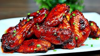 Honey Sriracha Chicken Wings Recipe + How to Bake Crispy Chicken wings