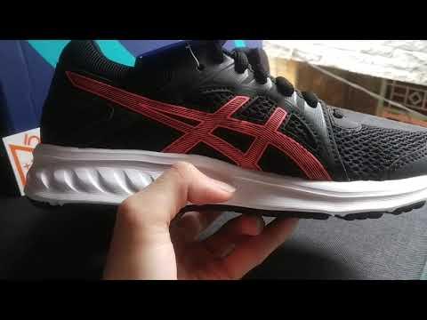(short-review)-asics-jolt-2-black/flash-coral-women/ladies---original---sepatu-asics-running-wanita