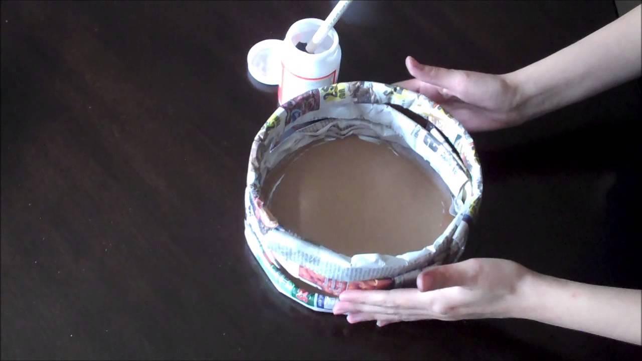 Como hacer una canasta navide a youtube for Como hacer una pileta de material paso a paso