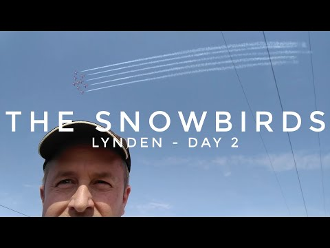 Snow Birds At the Abbotsford Airshow - from the Cheap Seats - Day 2