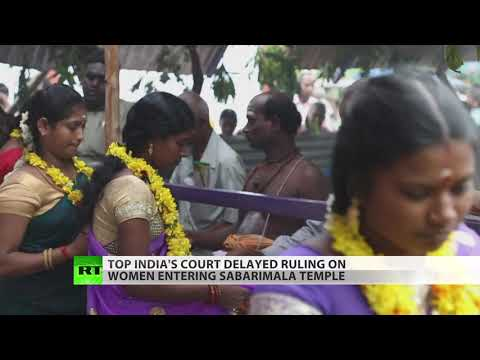 Hindus bar 'unclean' women from temple