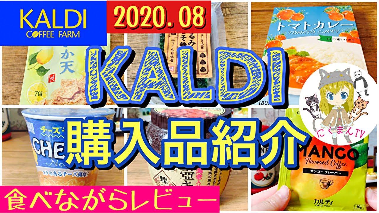 【KALDI】カルディ購入品紹介(*´∀`)食べながらレビュー!2020,8