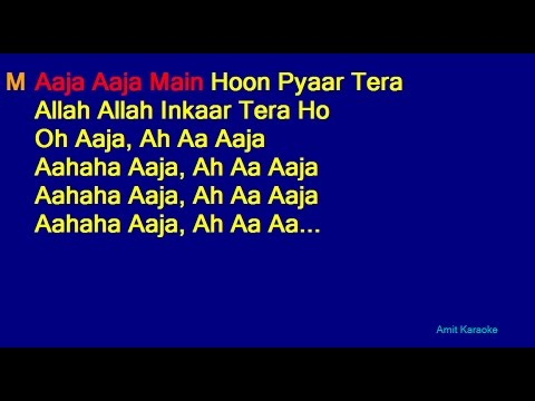 Aaja Aaja Main Hoon Pyaar Tera - Mohammed Rafi Asha Bhosle Duet Hindi Full Karaoke with Lyrics