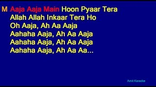 Aaja Aaja Main Hoon Pyaar Tera - Mohammed Rafi Asha Bhosle Duet Hindi Full Karaoke with Lyrics