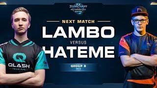 Lambo vs Hateme ZvZ - Ro16 Group B - WCS Winter Europe