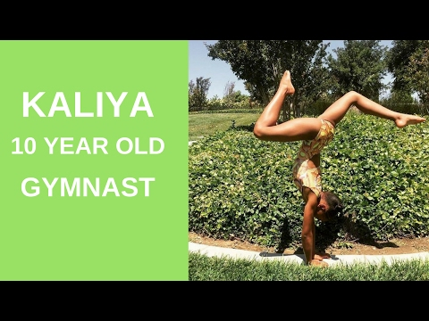 Kaliya a 10 year old gymnast (Level 9)