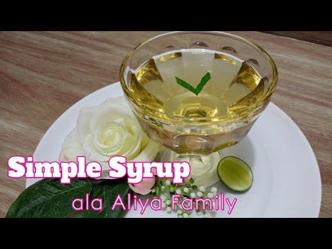 Cara membuat Simple Syrup Home Made  Aliya Family
