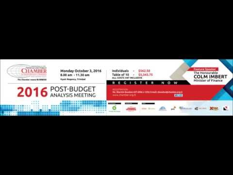 Post Budget Analysis Save the date 2016