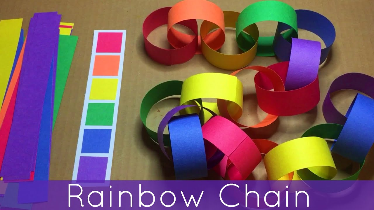 Rainbow Chain For Preschool and Kindergarten Fine Motor