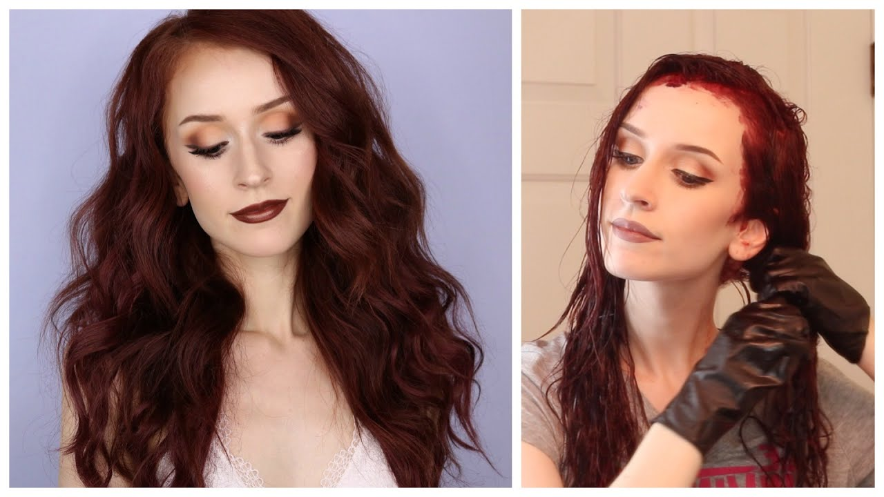 How I Dye My Hair Burgundy Auburn Hair Q A Youtube