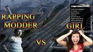 RAPPING MODDER TROLLS GAMER GIRL (GTA MODS)