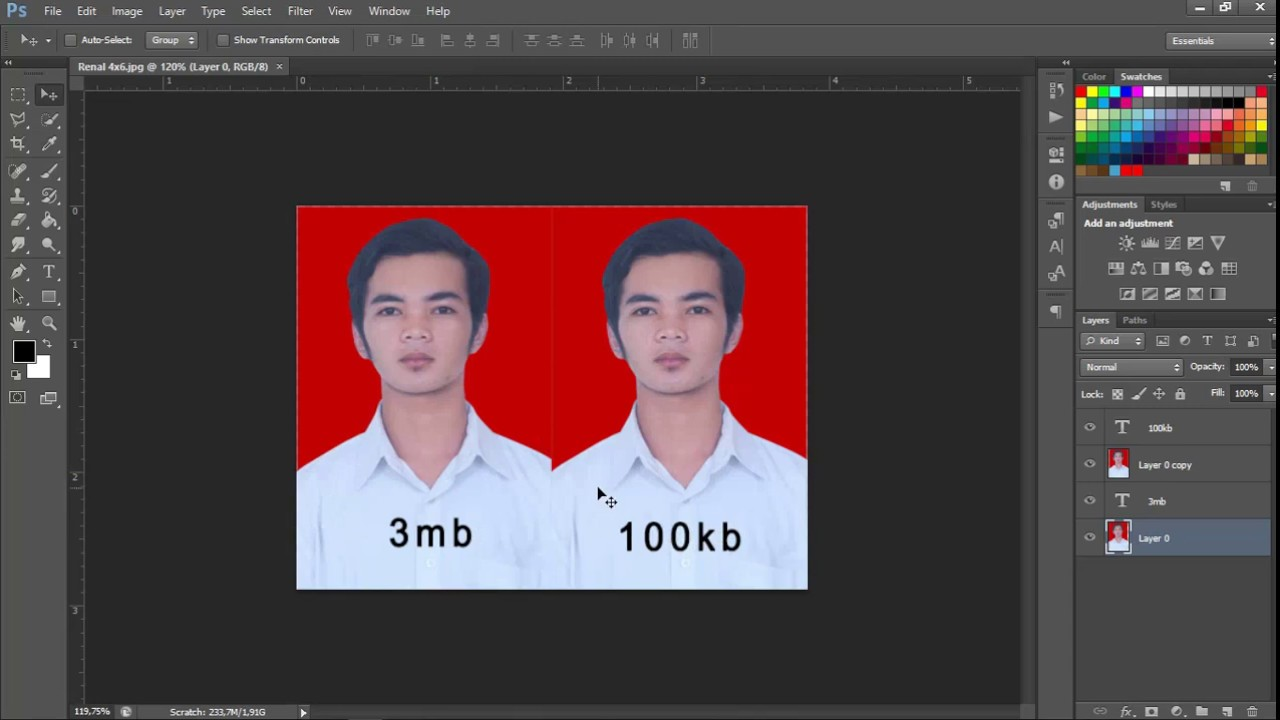 Cara Kompres ukuran foto di photoshop - YouTube
