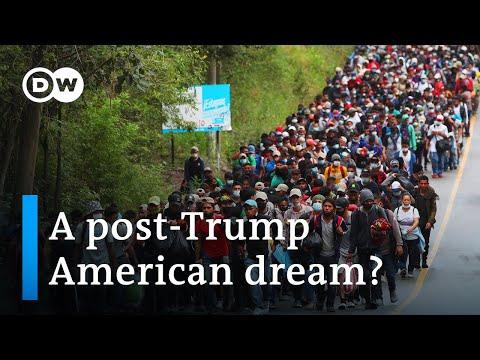 Caravan of Central American migrants heads toward US border   DW News