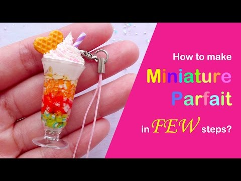 Miniature Ice Cream Parfait Sundae Tutorial / Miniature Sweets DIY