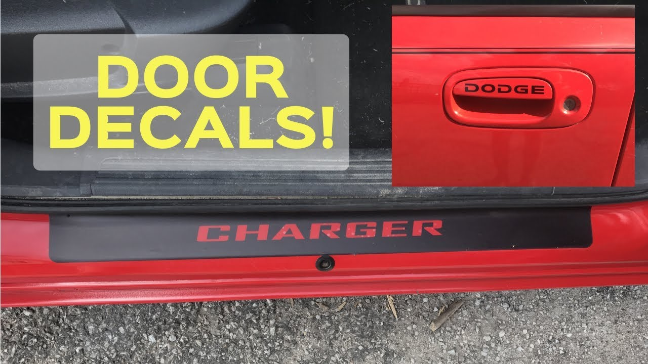 2 Door Charger >> Dodge Charger Vinyl Door Sill Guards & Door Decals! FUN EASY MODS! - YouTube