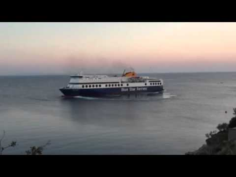 First trip of Blue Star I at Oinousses, Chios