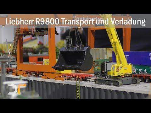 Schwertransport und Verladung - Liebherr R9800   UHD   RC 1:87