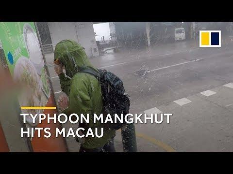 Typhoon Mangkhut hits Macau hard