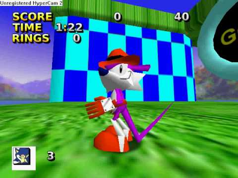 Sonic 3D Blitz Engine Fang The Sniper Sonic The Fighters ripped model by DaGuAr