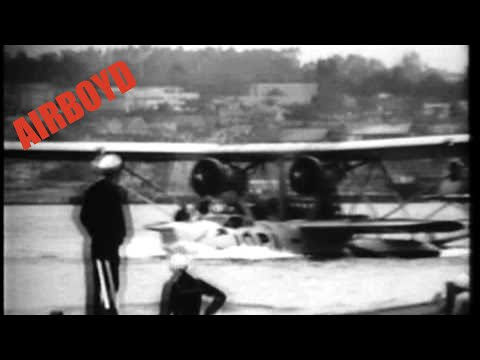 Navy Seaplane Group Ends Record Mass Hop From Canal Zone Base (1933)