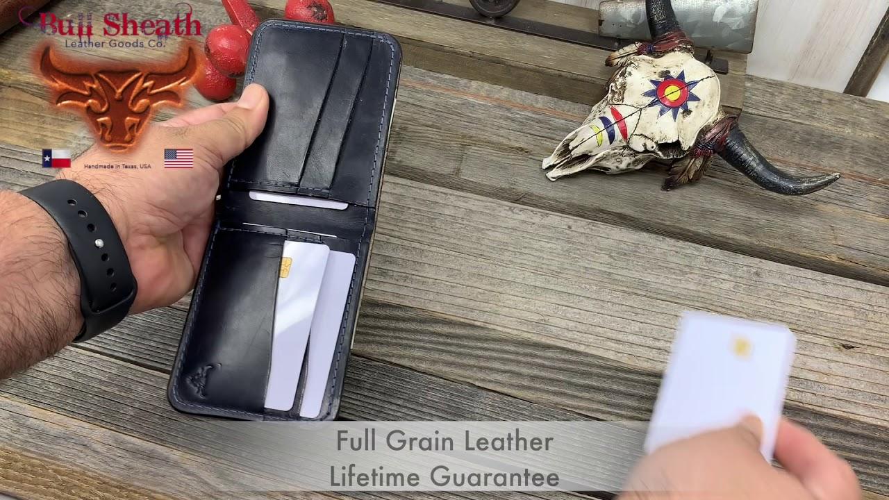 Navy Blue Wallets - Men's Leather Wallets - Bull Sheath Leather