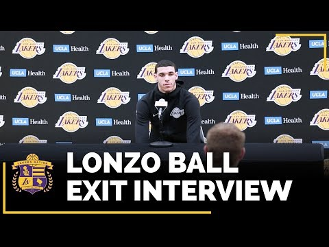 Lakers Exit Interview 2018: Lonzo Ball (With Time Stamps!)