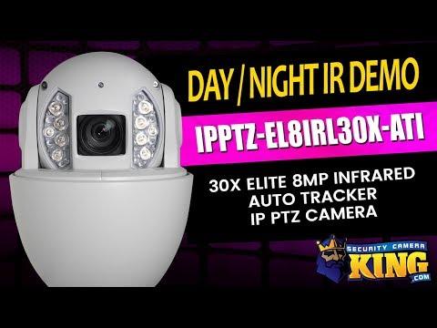 Day / Night IR Demo - IPPTZ-EL8IRL30X-ATI - 30X Elite 8MP Infrared Auto Tracker IP PTZ Camera