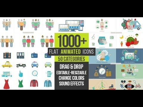 Flat Animated Icons 1000   | videohive