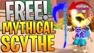 FREE MYTHICAL SCYTHE IN ROBLOX MINING SIMULATOR!